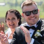 Brautpaar hat Spass
