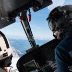 Sicht aus dem Helikopter Cockpit