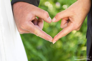 Herz mit Händen geformt