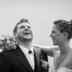 Spassiges Brautpaar