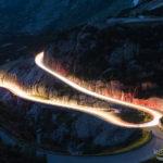 Lichtspuren am Grimselpass