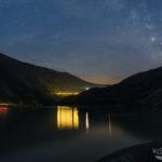 Lichtspuren und Sterne am Rätrichsbodensee