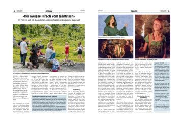 """Zeitungsartikel """"Der Sensetaler"""""""