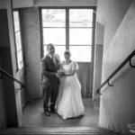 Brautpaar in Fabrik
