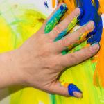Malen mit der Hand