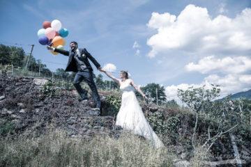 Flying Brautpaar